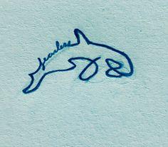 Tiny tattoo - Fearless Orca (killer whale) tattoo idea