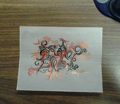 Chinese Dragon - Original Abstract India Ink Drawing - Free Shipping by AmieClay, $6.50