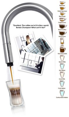 WOW look at this coffee maker. Can be controlled with an iPhone or iPad.