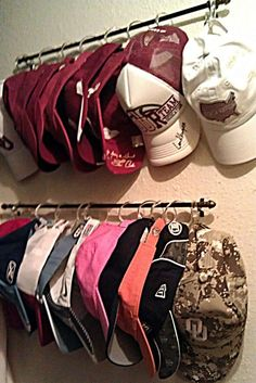 1000 ideas about baseball hat organizer on pinterest for Baseball hat storage solutions