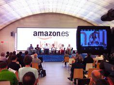 ¡Ya estamos en plena acción en los talleres de @AmazonESP Kindle en la Feria del Libro de #Madrid!