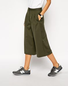 Image 4 of ASOS WHITE Twill Culottes