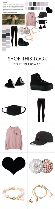 """Jeon Jungkook. Ideal Type."" by bringmethebulletprooflasagne ❤ liked on Polyvore featuring Seed Design, Jeffrey Campbell, Gucci, Body Rags, Brika, Guerlain and Happy Plugs"