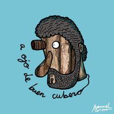 A ojo de buen cubero. Ilustración de Manuel Torrero
