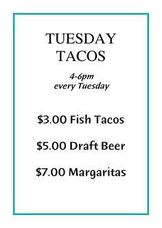 Taco Tuesday at Barefoot Bar at Duke's. DEAL.