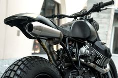 Miami-based Moto Studio created this stunning urban scrambler on Moto Guzzi's platform. Named Braapster, the build is minimal but mean, with all kinds of performance upgrades tucked into that spartan look. Moto Guzzi, Guzzi V9, Scrambler Motorcycle, Racing Motorcycles, V9 Roamer, Cx 500, Bad Drivers, Automotive Engineering, First Time Driver
