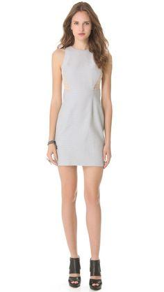 Charlotte Ronson Sheer Panel Sheath Dress