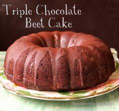 Triple Chocolate Beet Bundt Cake. Recipe from http://www.thesweetlifeonline.com/2013/11/15/triple-chocolate-beet-bundt-cake/.