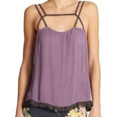 Free People Washed Purple Black Summer Straps Cami Intimately free people size Large Free People Tops Tank Tops