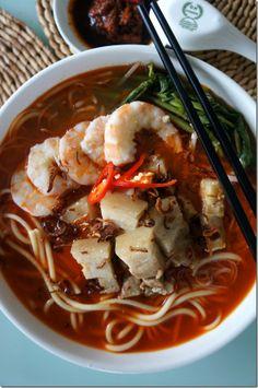 Pork Belly Prawn Noodle @ChopinandMysaucepan