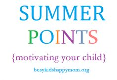 great idea to motivate kids for summer goals