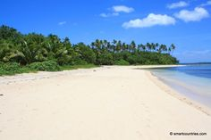 The main beach on Fafa Island has clear water and white sand framed with lush tropical vegetation. Tonga, Travel Tours, Beach Photos, Day Trip, Maine, Coast, Island, Water, Palms