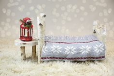 Photo Prop Log bed Newborn photography prop by BackdropsDesign