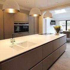 Next 125 German Kitchen for a customer in Ormskirk, Lancashire 1 Open Plan Kitchen Living Room, Kitchen Room Design, Home Decor Kitchen, Rustic Kitchen, Interior Design Kitchen, Kitchen Ideas, Kitchen Trends, Diy Interior, Interior Modern