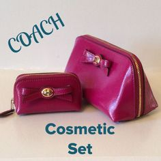 Nwt. Coach Turnlock Bow Cosmetic Set
