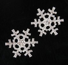 Zidetang 30mm Snowflake Rhinestone Buttons Embellishment Set Crystal Wedding * Click image for more details.