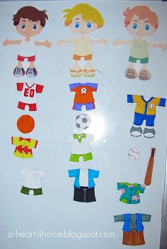 Finished Friday: DIY Boy Magnetic Dress Up Dolls - All Our Days