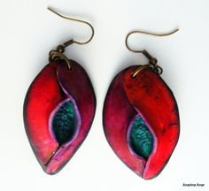 Polymer clay earrings by AnarinaAnar on Etsy, €19.00