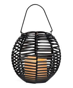 Another great find on #zulily! Brown Sphere Lantern & Flameless Candle by The Gerson Company #zulilyfinds