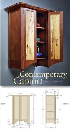 Contemporary Wall Cabinet Plans - Furniture Plans and Projects | WoodArchivist.com