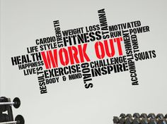 Pro Design WORKOUT Wall Decal Word Cloud by DesignDivilFitness