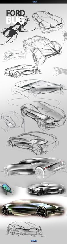 FORD BUG Concept by Jason Chen, via Behance
