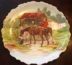 Comte D'Artois Limoges, France, Hand-Painted Plate signed by the artist | Gertie's Gems