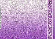 Lilac Embossed Paisley with Border Backing Paper on Craftsuprint designed by Sue Douglas - This Backing Paper sheet is from my Embossed range of Backing Paper Designs. It has an embossed texture of paisley and a gorgeous 3D Metallic Border. Please take a look at my other designs by clicking on my name. - Now available for download!