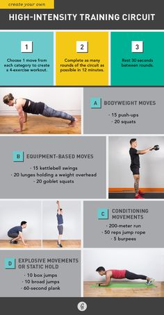 Greatist High-Intensity Training Circuit http://greatist.com/move/science-behind-high-intensity-workouts