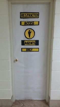 Add signs w/the caution tape around both side doors - http://whitetiles.info/add-signs-w-the-caution-tape-around-both-side-doors.html
