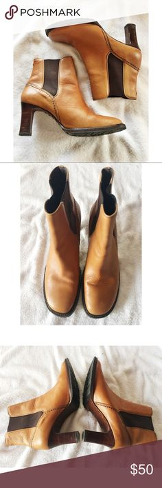 """Come Haan Leather Boots This pair of Coke Haan Leather Boots are in Great condition and a size 9.  The heel measures 3"""". The leather uppers so very little signs of wear and the soles show a small amount of wear as seen in pictures. Cole Haan Shoes Ankle Boots & Booties"""