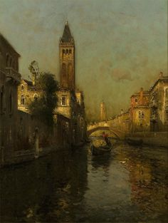 Antoine Bouvard (Marc Aldine) - Gondolier | From a unique collection of Fine Art…