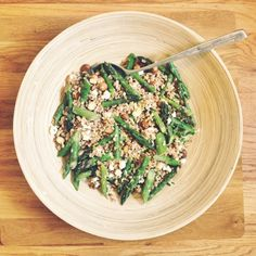 Farro and Asparagus Salad with Goat Cheese and Lemon - Rosemarried