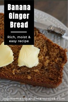The best most delicious and super easy banana ginger bread you will ever taste. Make it today