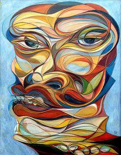 """Face W1"" painting by Takahiro Kimura"