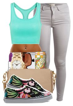"""""""585"""" by tuhlayjuh ❤ liked on Polyvore featuring Pieces, MANGO, Balenciaga, Marc by Marc Jacobs and Vans"""