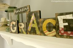 Amazing Grace Wooden Sign