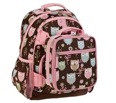 Mackenzie Chocolate Owl Backpacks | Pottery Barn Kids