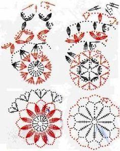 Znalezione obrazy dla zapytania bombka szydełkowa wzór Crochet Christmas Ornaments, Crochet Snowflakes, Christmas Snowflakes, Christmas Bells, Christmas Baubles, Christmas Crafts, Christmas Decorations, Xmas, Crochet Squares