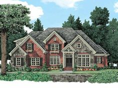 Eplans French Country House Plan - French Country Elegance - 3853 Square Feet and 5 Bedrooms from Eplans - House Plan Code HWEPL13252