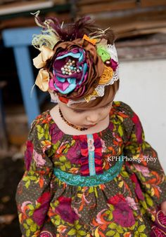 Cornucopia Headband.Baby Headbands.Paint by AvryCoutureCreations