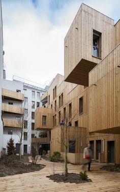 TETE EN L'AIR - Paris, France by KOZ architectes 30 SOCIAL HOUSING IN PARIS