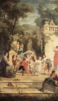 The Games of Summer, Adolphe Jourdan (1825-1889)