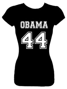 Juniors Size XL Fashion Top President Barack Obama T-Shirt (Team Obama 44) Juniors Fashion Cut Fitted Black Shirt; Great Gift Ideas for Girls Misses Juniors and Teens (Collectible Novelty Items)