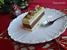Vianočné medové rezy (fotorecept) Czech Recipes, Ethnic Recipes, Christmas Baking, Nutella, Tiramisu, Cheesecake, Deserts, Dessert Recipes, Food And Drink