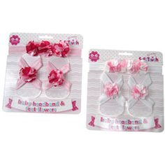 Girls Floral Headband & Feet Applique Set by Soft Touch