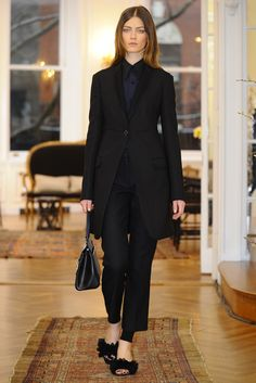 The Row RTW Fall 2013. long blazer. shawl lapel. #fall2013 #nyfw