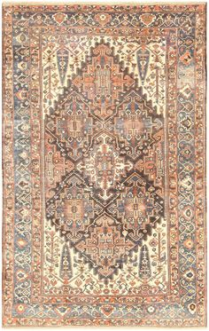 Antique Bakhtiari Carpet, Persia, 1920 11 ft 4 in x 18 ft 8 in (3.45 m x 5.69 m)