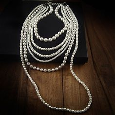 Women's Layered Pearl Necklace – USD $ 14.99