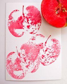 Activities: Apple Print Cards